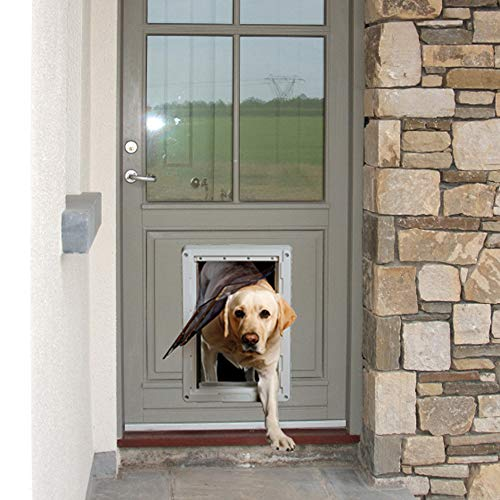 Ideal Pet Products Designer Series Ruff-Weather Pet Door with Telescoping Frame, Grey, Extra Large - 9.75' x 17' Flap Size (DSRWXL)