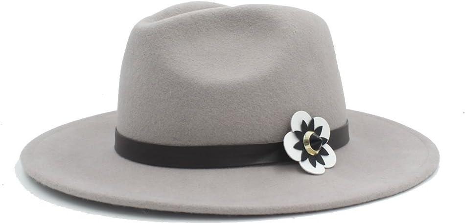 HHHCM-US Women's Wide Brim Hat Attention brand White Max 79% OFF with Cortex Wool Fedora