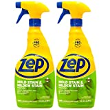 Zep Mold Stain and Mildew Stain Remover 32 oz. (Pack of 2) No Scrub Formula! ZUMILDEW32