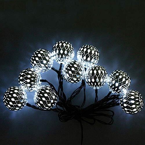 M.best Solar Lichterkette Aussen, 7M 50 LED Solarlichterkette für außen 8 Modi Wasserdicht Lichterkette außen Solar für Garten, Balkon, Terrasse, Hochzeiten, Partys (Kaltweiß)