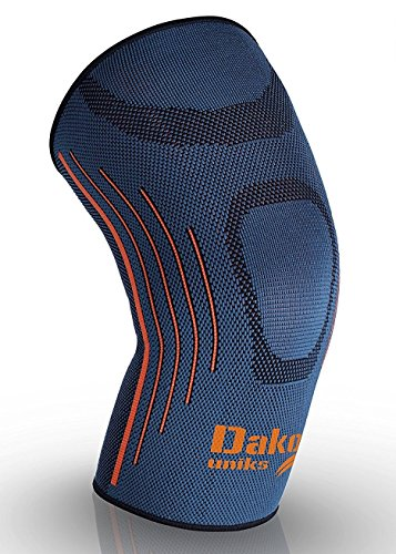 DakoUniks Knee Compression Sleeve Support for Running, Weightlifting, Crossfit, Tennis,Football - Best Knee Brace for Meniscus Tear, Arthritis, Joint Pain Relief. Faster Recovery. Single Wrap