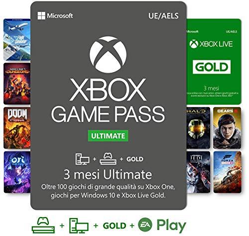 Abbonamento Xbox Game Pass Ultimate - 3 Mesi | Xbox Live Gold è incluso con l'abbonamento 3 Mesi | Xbox & Windows 10 - Codice download