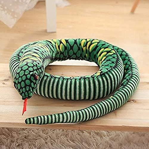 NC86 Peluches 280cm Realista Boa Juguete Relleno Largo Serpiente Regalo Sofá Silla Decorativa