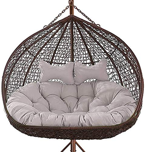 GOHHK Egg Nest Chair Pad for Indoor,Thickened Hanging Egg Hammock Chair Cushions Without Stand, Double Swing Seat Cushion,Outdoor Patio Backyard -