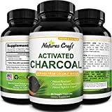 Cleanse and Detox Activated Charcoal Capsules - Pure Activated Carbon Detox Pills for Bloating Relief and Weight Loss Cleanse - Active Charcoal Tablets for Gas Relief Gut Health and Stomach Relief