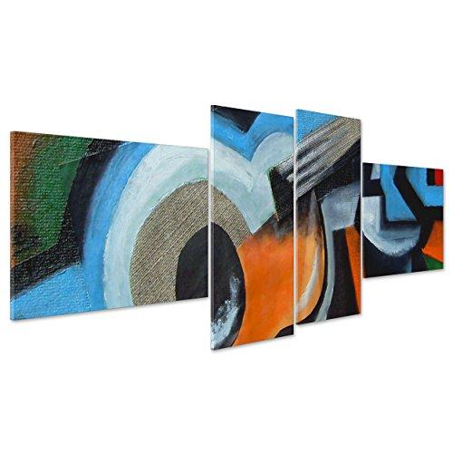 Foto op canvas CANVAS - ingelijst - OPHANGEN - Astratto Gitaar - Muziektype