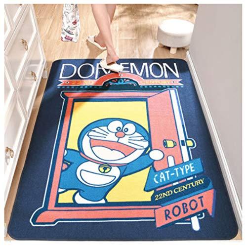 maishi Alfombras Cocina Larga Dormitorio De Los Niños Baño Área De La Cabecera Alfombrilla Antideslizante Sala De Estar Guardería Estudio Pasillo Dibujos Animados Doraemon Decoración del Hogar