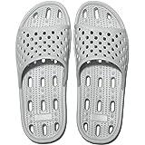 Zapatillas de Ducha para Mujeres Antideslizantes Chanclas y Sandalias de Piscina Sandalias de Baño (Gris, numeric_40)
