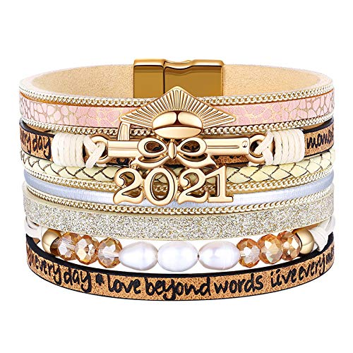 Graduation Gifts for Her 2021 College High School Graduate Bracelets Gifts for Teen Girls
