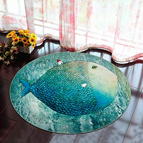 BBNNN 60X60CM3D Lotus runden Teppich für Wohnzimmer Salon Schlafzimmer Computer Stuhl Bereich Teppich Kinder Spielen Spiel Zelt Bodenmatte Garderobe Teppiche