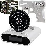 Digitaler Wecker mit Pistole & Zielscheibe - Creatov Digital Alarm Clock Wecker ohne Ticken Kinder &...