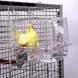 KINTOR Bird Bath No-Leakage Design Bird Bathtub Show for Most Birdcage (5.9x6.3x6.3inch)
