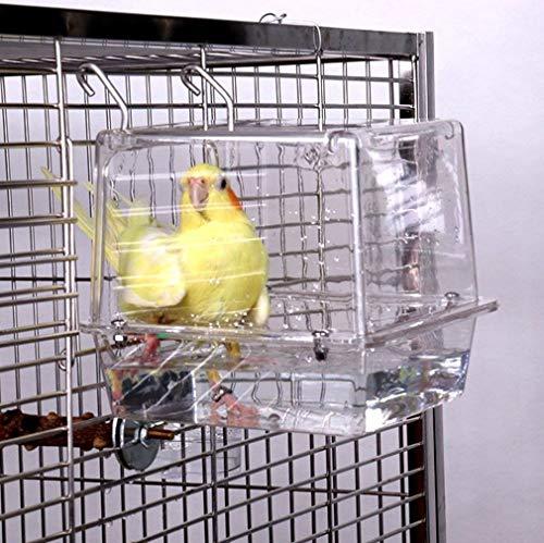 Bañera transparente para pájaros de KinTor