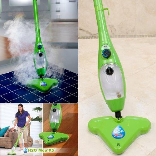 H2O Mop X5 Dampfreiniger Dampfbesen + Ebook Super ich bin Fit