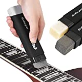 Fast Guitar Strings Cleaner Eraser Rust Remover with Lubricant in Brush String and Fret Care for Cleaning Acoustic Eletric Guitar Bass Ukulele Violin Banjo Mandolin Instrument (Dual Head)