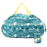 エコバッグ かんたんにたためる 折りたたみバッグ 防水 コンパクトに収納 シュパット MOZ エコバック コンビニ ショッピングバッグ コンビニ マイバッグ (リーフ)