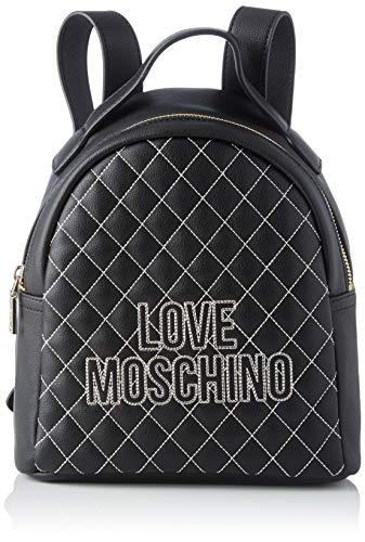 Love Moschino Pu, Borsa a Zainetto Donna, Nero (Nero), 25x25x9 cm (W x H x L)