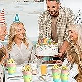 DAOUZL 64pcs Partygeschirr Set, Partygeschirr Kindergeburtstag, Perfektes Partygeschirr Set, Partygeschirr Geburtstag Party set mit Pappteller, Pappbecher und Servietten für 16 Gäste - 6