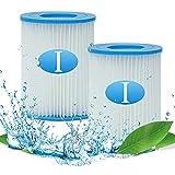 MIBNCE Bestway - Cartuchos de filtro de repuesto para Bestway I Filter, tipo I para bombas de piscina Bestway, tamaño 1 para Bestway 58093, spa, filtro de limpieza de piscina inflable (2 unidades)