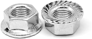 7//16-20 Fine Thread Hex Flange Nut with Serration Case Hardened Low Carbon Steel Zinc Plated Pk 50