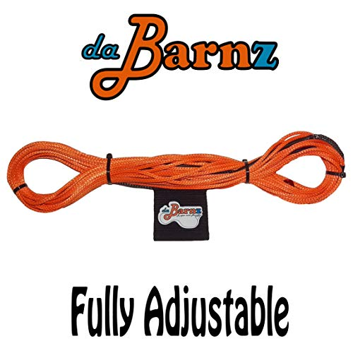 daBarnz 75' Patent Pending Fully Adjustable Dyneema Mainline Wakeboard Rope… (Orange)