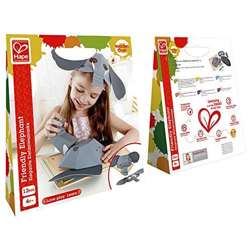 Hape E5123 - Elefantenmaske, Kinder Bastelsets