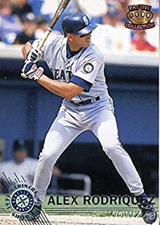 Alex Rodriguez 1995 Pacific Mariners #42 Alex Rodriguez ERROR ROOKIE Card! Rodriguez is Spelled Wrong (Rodriquez)! Vintage Rookie Card over 30 Years Old Shipped in Ultra Pro Top Loader