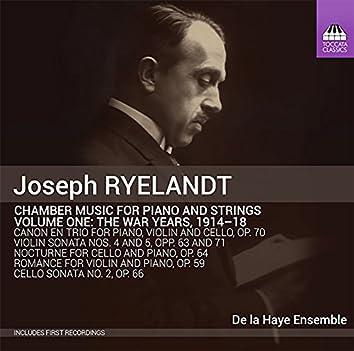 Ryelandt: Chamber Music for Piano & Strings, Vol. 1