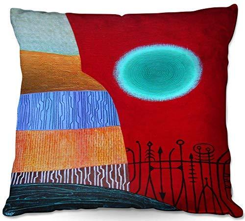 July decoratief sierkussen voor op de bank, deken van jennifer Baird - Red Sky ab