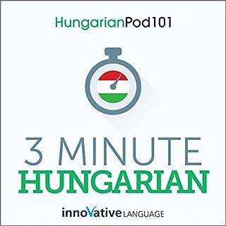 3-Minute Hungarian - 25 Lesson Series Audiobook Titelbild