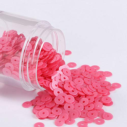 Best Quality - Sequins - 720pcs/lot 6mm matte sequin art pvc flat round frosted sequins paillettes sewing wedding craft,kids diy slim filling accessories - by Rocco - 1 PCs