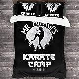 NBAOBAO The Karate Kid Juego de ropa de cama de karate, sin edredón, regalo para niños, amantes del anime, ropa de cama (karate 2,135 x 200 cm + 50 x 75 cm x 2)