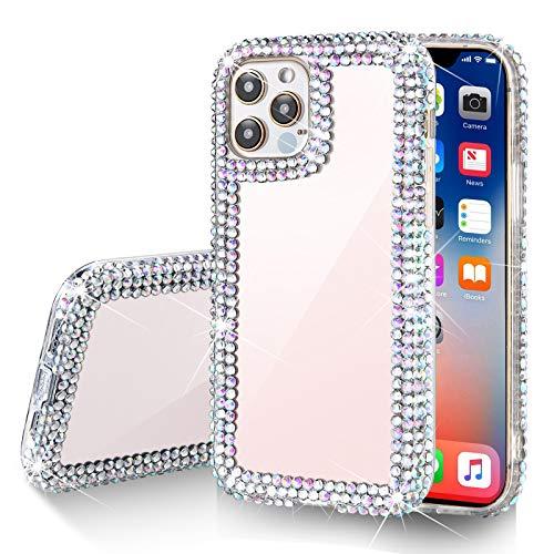 Gdrtwwh Bling Schutzhülle kompatibel mit iPhone 12 Hülle, kompatibel mit iPhone 12 Pro, handgefertigt, luxuriös, funkelnde Strasssteine für Damen (15,5 cm)