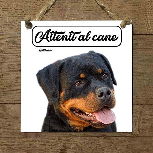 rottweiler Mod 3cuidado con el Perro matrícula azulejo cartel Ceramic modelo