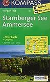 Starnberger See, Ammersee 1 : 50 000: Wandelkaart 1:50 000 (KOMPASS-Wanderkarten, Band 180) - KOMPASS-Karten GmbH