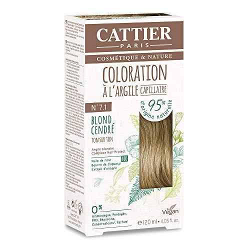 Cattier Kit Coloration Capillaire à l'Argile - N°7.1 Blond Cendré
