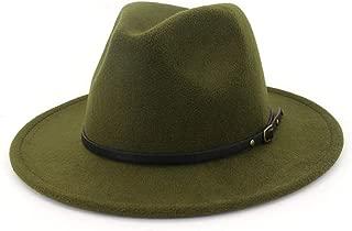Women's Wool Felt Outback Hat Panama Hat Wide Brim Women Belt Buckle Fedora Hat