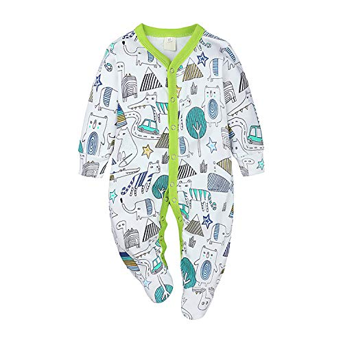 Ropa Bebe Mono Reborn Chico Conjunto para Niño Recien Nacido Pijama Verde Traje de Escalada Vestido Verano 0-3 Meses