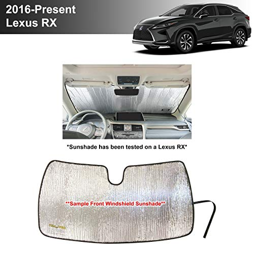YelloPro Custom Fit Automotive Reflective Front Windshield Sunshade Accessories UV Reflector Sun Protection for 2016 2017 2018 2019 2020 Lexus RX RX350 RX350L RX450H RX450HL, Base, F Sport SUV