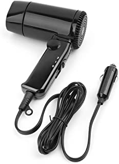 EAPTS Portable 12V Car-styling Hair Dryer Hot & Cold Folding Blower Window Defroster