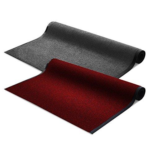 Floordirekt EVEREST Schmutzfangmatte Schmutzfangläufer Sky | rot | ideale Größe wählbar, Meterware (100x200 cm)