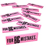 Kicko Big Mistake Extra Large Eraser - Jumbo Erasers - 5.5 x 1.5 Inches, 12 Pack