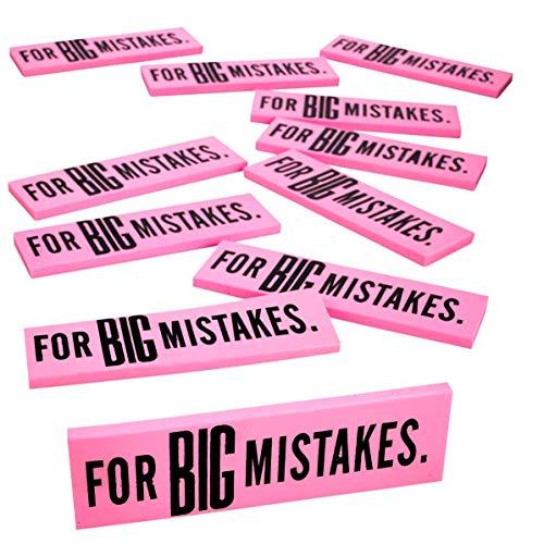 Kicko Big Mistake Extra Large Eraser - Jumbo Erasers - 5.5 x 1.5 Inches, 12 Pack