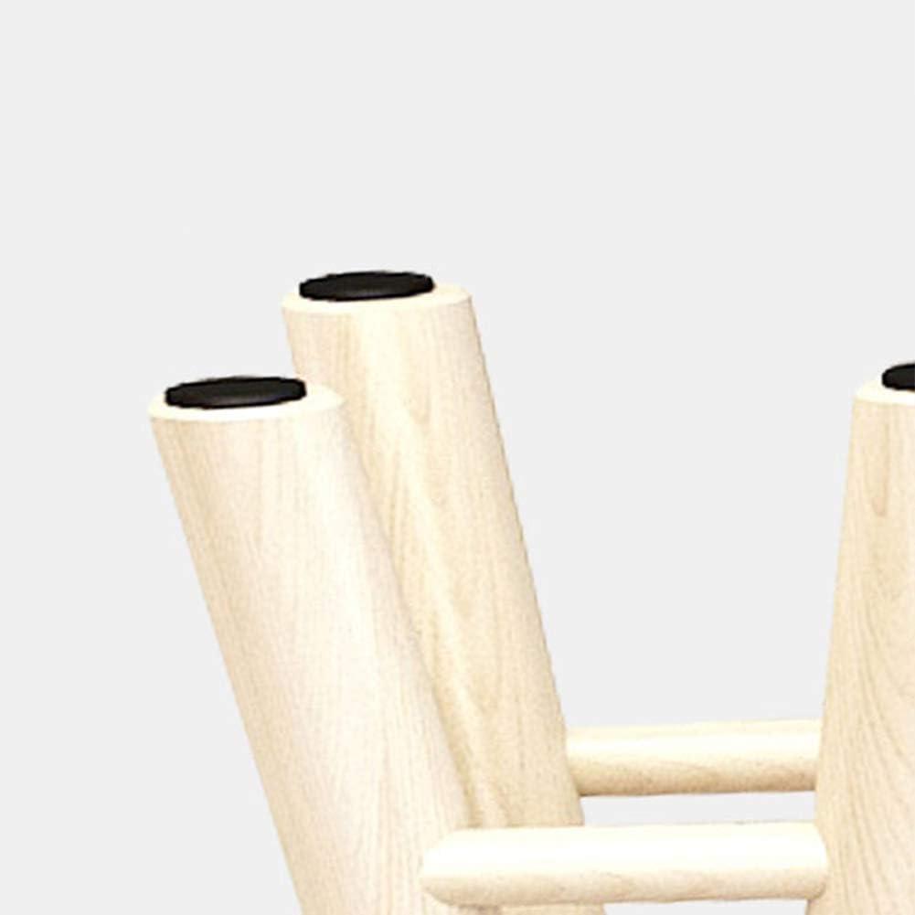 Tabouret Tout-Assorti en Bois Massif/Coton, Petite Chaise Ronde de ménage, Tabouret antidérapant/Repose-Pieds Robuste pour Salon et Chambre à Coucher 3 6