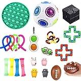 TISESIT INDOOR 22 Juguetes Sensoriales Fidget, Juego De Juguetes De Descompresión, Bolas Sensoriales, Burbujas, Antiestrés Y Ansiedad, Presenta Nuevos Patrones Lindos Que