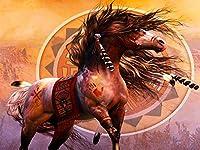 ダイヤモンド刺繡動物クロスステッチ5DDIYダイヤモンド絵画馬フルスクエアモザイクラインストーン家の装飾