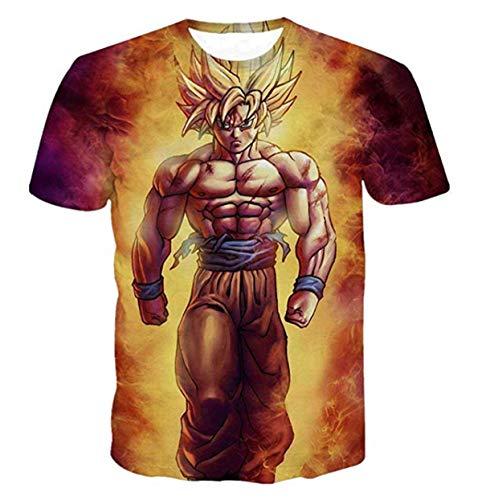 CHENMA Herren Dragon Ball 3D Drucken Kurzarm Pullover Normal Fit T-Shirt