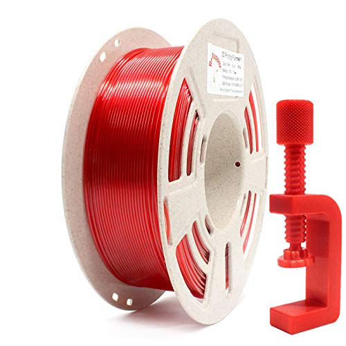 RepRapper 1kg PETG 3Dプリンターフィラメント レッド 1.75mm + 印刷ビルド表面 + ノズル洗浄針