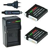 Chili Power NB-6LH Kit: 2X batteria + caricabatteria per Canon PowerShot D10, D20, D30, ELPH 500HS, S90, S95, S120, Sd770Is  sd4000is, SX170IS- SX280HS, SX500IS, SX510HS, SX520HS, SX600HS, SX700HS