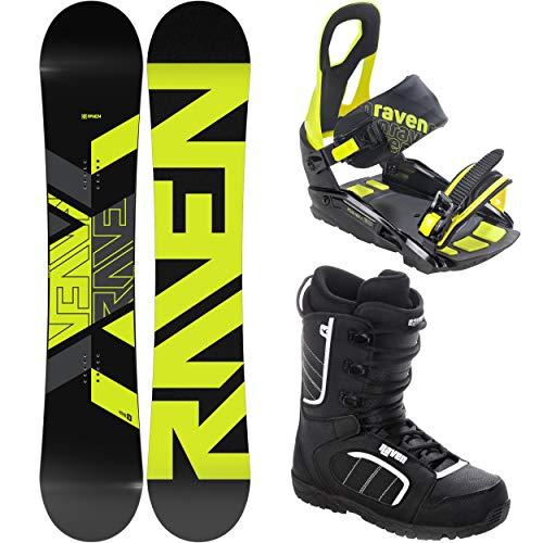 RAVEN Snowboard Set: Snowboard Patrol + Bindung s200 Lime + Boots Target (160cm + s200 M/L + Target 44)